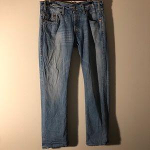 True Religion   Slim fit jeans   Faded denim   36
